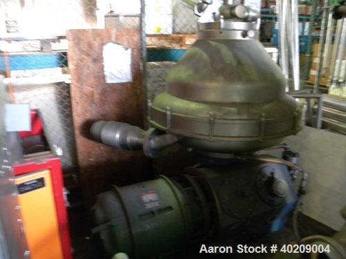 Used- Stainless Steel Alfa Laval Desludger Disc Centrifuge, MRPX-317