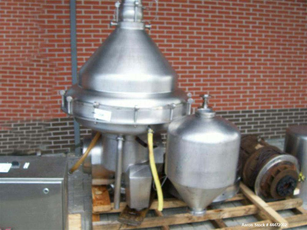 Used-Alfa Laval MRPX-318 HGV-74C Milk Separator.  Stainless steel construction (product contact areas), stainless steel on p...