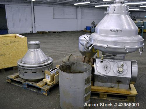 Used- Alfa Laval MRPX318TGV-74C/4260-2 centrifuge. 329 Stainless steel construction on product contact areas, direct drive c...