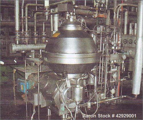 Used-Alfa Laval PX-80-CGV-14CY Desludger Disc Centrifuge. Stainless steel construction (product contact areas). Separator/pu...