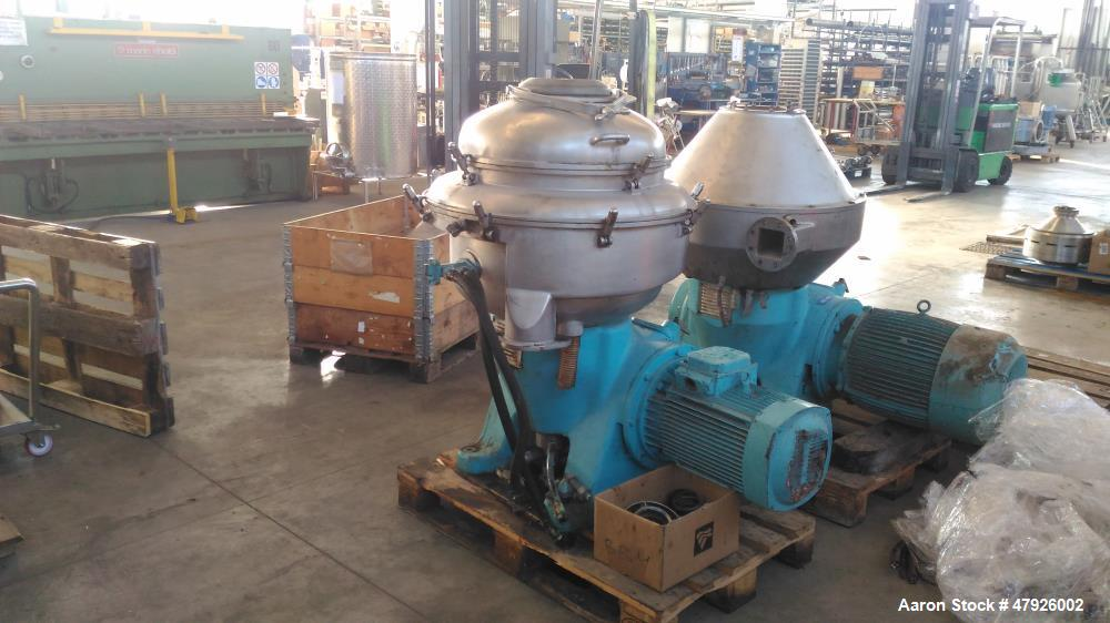 Used- Alfa Laval SRPX 610-HGD-14-CGH-50 Desludger Disc Centrifuge. 316 Stainless steel construction (product contact areas),...