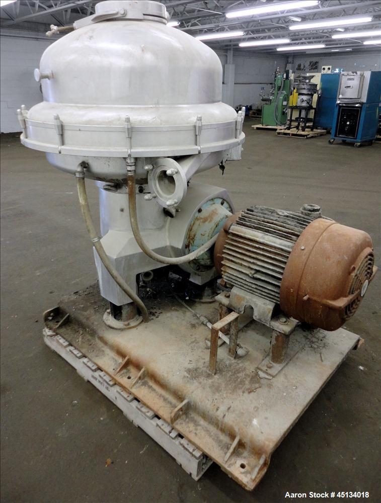 Used- Stainless Steel Alfa Laval Desludger Disc Centrifuge, SRPX-317HG V-15CH-60
