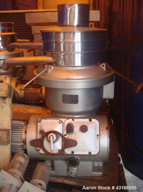 Used-Alfa Laval UVPX-207-00A Desludger Disc Centrifuge.  Stainless steel construction (product contact areas), separator des...