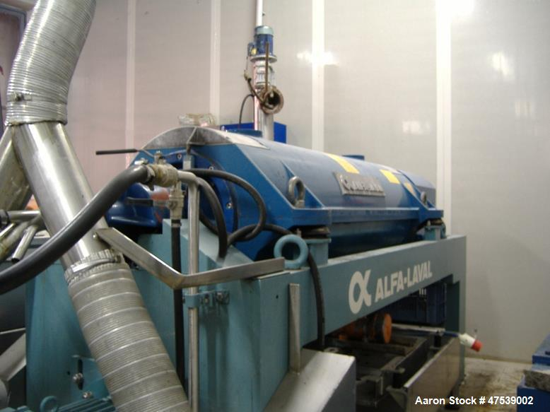 Used- Alfa Laval UVPX 307 Desludger Disc Centrifuge. 316 Stainless steel (product contact areas), separator design (liquid/,...