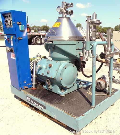 Used- Alfa-Laval VNPX-407-SGT-34-50 Desludger Disc Centrifuge