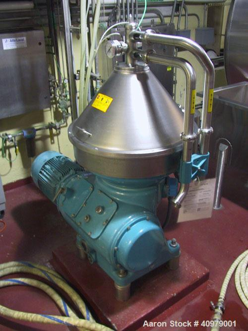 Used-Alfa Laval VNPX-510 Desludger Disc Centrifuge. Stainless steel construction on product contact areas, clarifier design,...