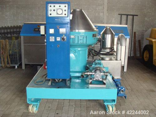Used-Alfa-Laval VNPX-410-SGD Desludger Disc Centrifuge. Stainless steel construction (product contact areas), clarifier desi...