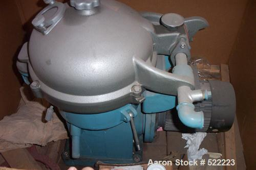 USED: Alfa Laval WSB-104 solid bowl disc centrifuge. Stainless steel construction on product contact areas, separator design...