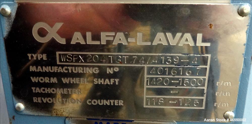 Alfa Laval WSPX-204-TGT-74/4139-4 Desludger Disc Centrifuge