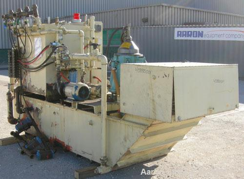 Used- Vepco Model TB21X38X204 Tramp Oil Filter Media/Centrifuge Separation System consisting of an Alfa Laval centrifuge, mo...