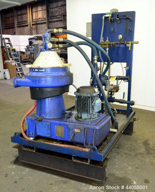 Used- Alfa Laval WSPX 307 TGD-71G Desludger Disc Centrifuge. 2205 Stainless steel product contact areas. Separator design (l...