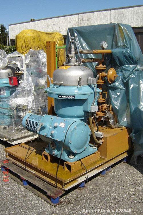 USED: Alfa Laval WSPX-207-TGP-74-50 desludger disc centrifuge. 316 stainless steel construction. Concentrator design. 1500 r...