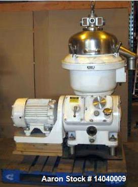 Used- Delaval AFPX-207 Desludger Disc Centrifuge.