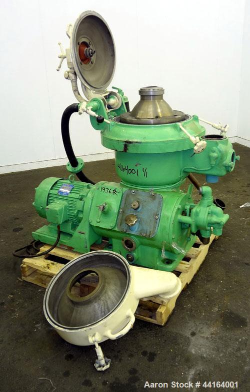 Used- DeLaval PX-207 Desludger Disc Centrifuge