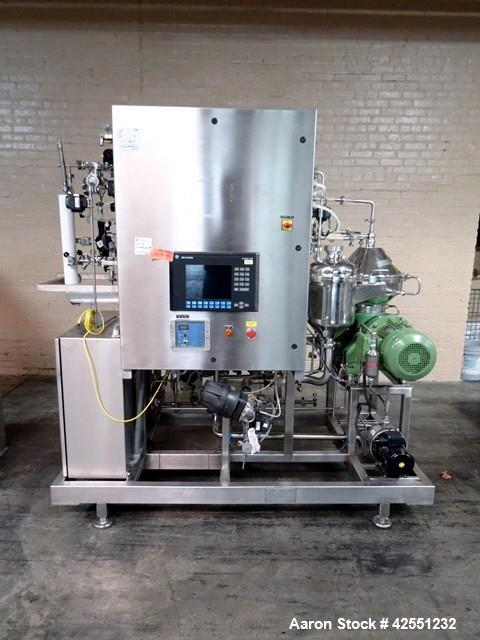 Used-GEA Westfalia CSC-6-06-476 Desludger Disc Centrifuge w/C.I.P System, 316L stainless steel product contact surfaces, cla...