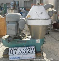 "Used- Alfa Laval AX-213 ""ultra polishing"" desludger disc centrifuge"