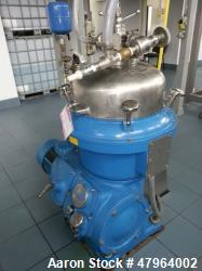 Alfa Laval BRPX-207SGV Desludger Disc Centrifuge. Stainless steel construction (product contact are...