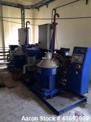 d- Alfa Laval Separator, Model Double Module SU846. In-Line configuration. Approximate 5,000 max. ca...