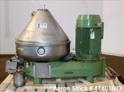 Used- Westfalia Desludger Disc Centrifuge, Model GSE-200-06-777