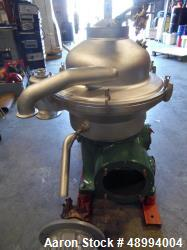 Used- Westfalia SA-20-03-076 Desludger Disc Centrifuge