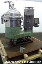 Used- Stainless Steel Westfalia Desludger Disc Centrifuge, SA-40-02-177