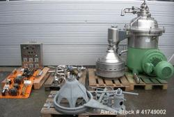 Used- Westfalia Desludger Disc Centrifuge, SA-60-47-076