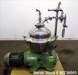 Used- Westfalia SAMN-5036 Desludger Disc Centrifuge.