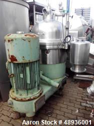 Used- Westfalia SB 80-36-777 Desludger Disc Centrifuge.