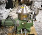Used- Stainless Steel Westfalia Desludger Disc Centrifuge, SA-19-06-076