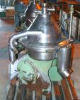 USED: Westfalia SA-35-03-076 desludger disc centrifuge, stainlesssteel construction on product contact areas. Max bowl speed...