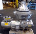 Used- Westfalia SAMM-20006 Desludger Disc Centrifuge