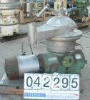 Used- Westfalia Disc Centrifuge, Model SAMN-5036, 329 stainless steel. Maximum bowl speed 6500 rpm, centripetal pump liquid ...