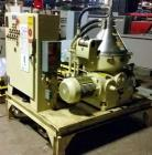 Used- Westfalia Centrifuge Separator; Model OSB-20-91-016. Permissible density of product to be treated. Heavy liquid gl.c. ...