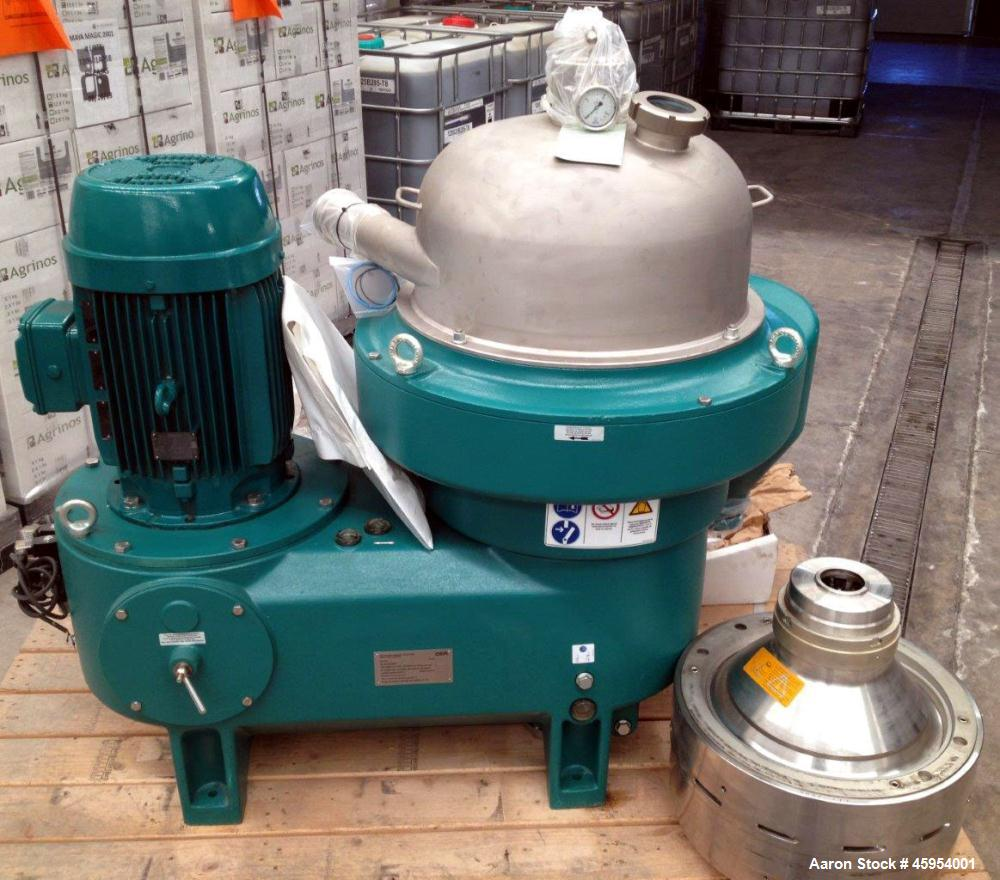 Unused - GEA Westfalia  ASD-50-03-077 Desludger Disc Centrifuge, max bowl speed 6800 min. light phase gravity over-flow, hea...