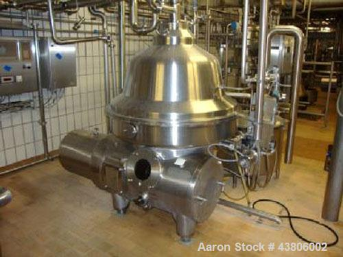 Used-Westfalia CNB-215-01-076 Bactofuge Desludger Disc Centrifuge, stainless steel construction (product contact areas), sep...