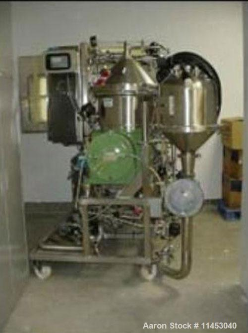 Used-Westfalia CSA-16-06-476 desludger disc centrifuge. Biotech/ultra-polishing design, 316 stainless steel construction on ...