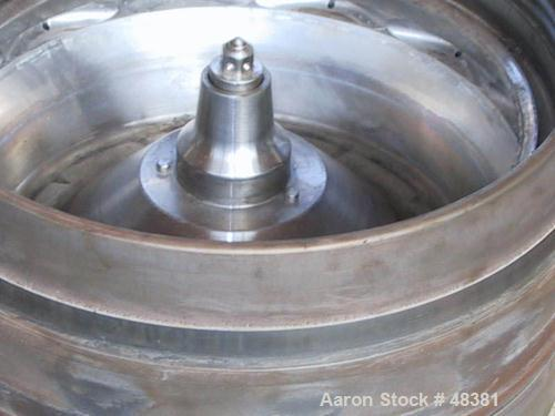 USED: Westfalia CSA-160-47-076 disc bowl polishing centrifuge. Clarifier design. 316 stainless steel product contact parts. ...