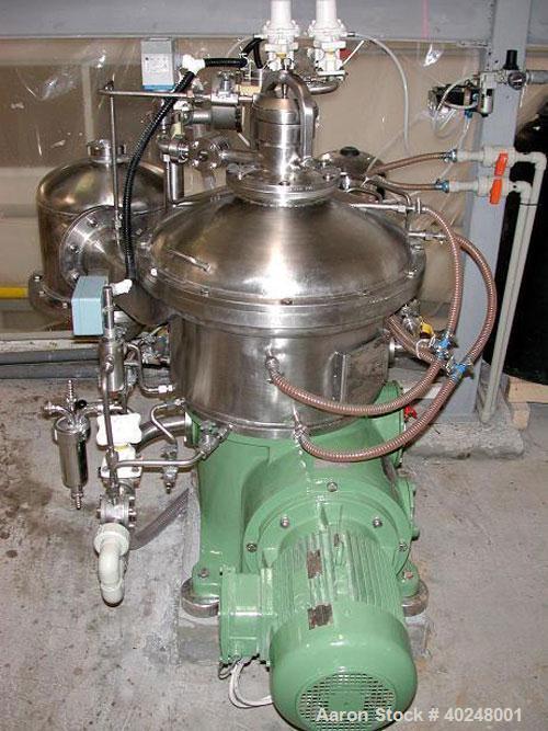 """Unused-Used: Westfalia CSA-19-47-476 """"Ultra Polishing"""" Desludging Disc Centrifuge, 316 stainless steel construction. Max bow..."""