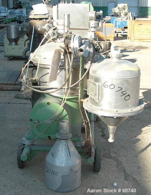 """Used- Stainless Steel Westfalia """"Ultra Polishing"""" Desludging Disc Centrifuge, CSA-19-47-476"""