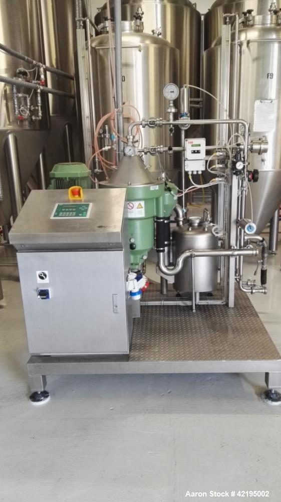 Used- Westfalia GSC-15-06-177 Desludger Disc Centrifuge. Stainless steel construction (product contact areas). Clarifier des...