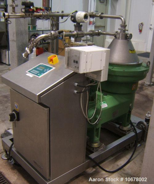Used-Westfalia GSC-25-06-177 Desludger Disc Centrifuge, stainless steel construction (product contact areas). Clarifier desi...