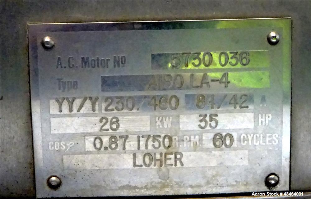 Used- Westfalia MSA-100-01-076 Desludger Disc Centrifuge