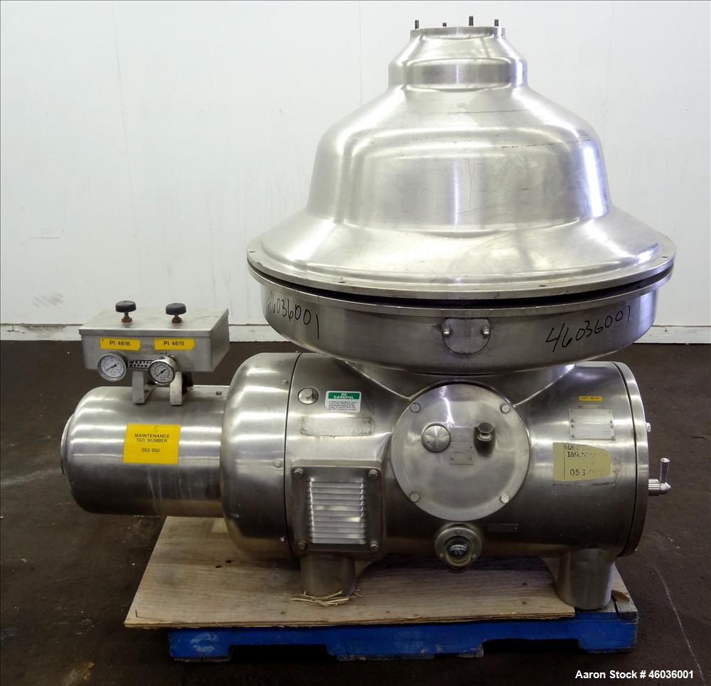 Used- Westfalia MSA-120-01-076 Disc Centrifuge