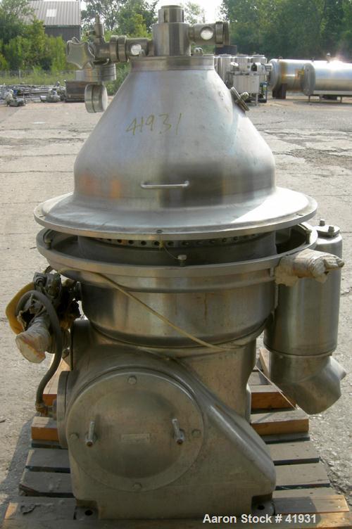 Used- Stainless Steel Westfalia Desludger Disc Centrifuge, MSA-35-06-076