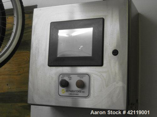 "Used-Westfalia Model OSA-20-03-066 ""Oil Purifier"" Disc Centrifuge. Max bowl speed 7510 rpm. Direct drive configuration 11 kW..."