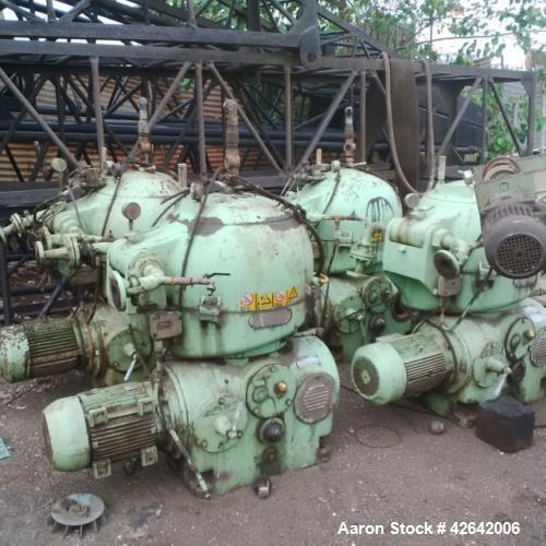 Used- Westfalia OSA-20-02-066 Oil Purifier Desludger Disc Centrifuge. Stainless/carbon steel construction, purifier design (...