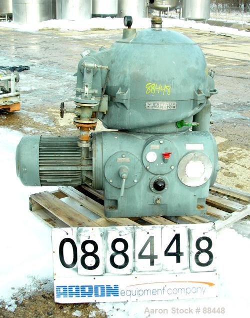 USED: Westfalia model OSA-20-03-066 oil purifier disc centrifuge. Max bowl speed 7510 rpm. Direct drive configuration 11 kw ...
