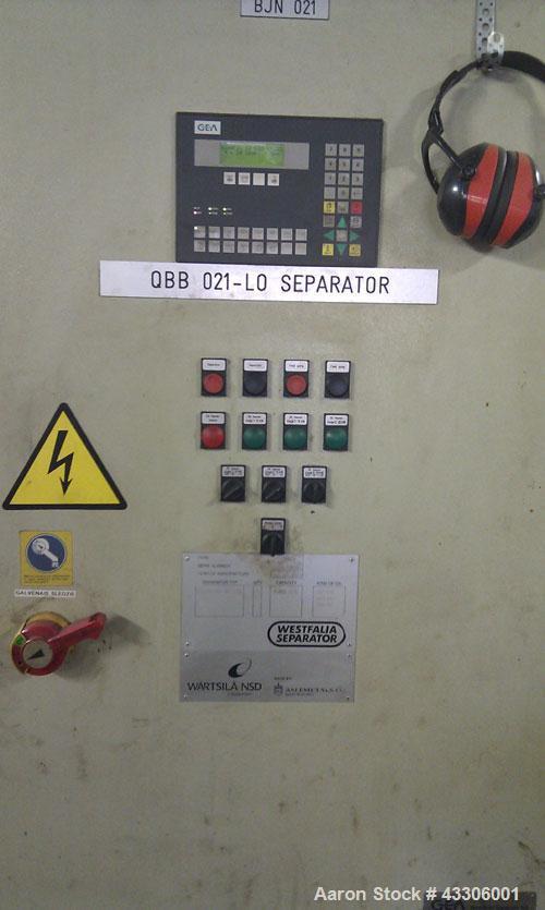 Used-Westfalia/GEA OSC-15-96-067 Desludger Disc Centrifuge