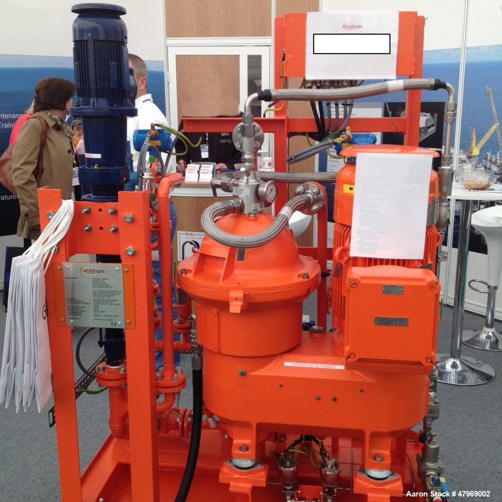 Used- Unused Westfalia Disc Stack Centrifuge, Model OTC 20-01-937. Vertically mounted Seepex pump and piping, non-self-clean...