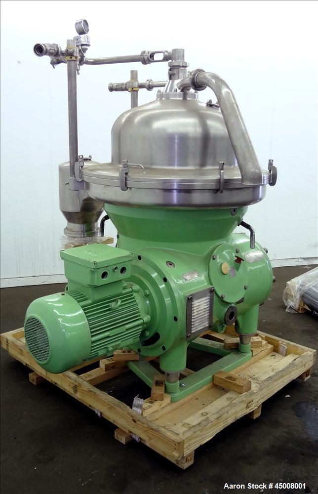 Used- Stainless Steel Westfalia Refining Desludger Disc Centrifuge, RSA-80-01-576